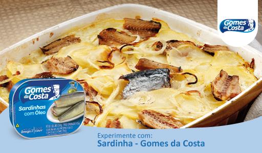 Fritada de Forno com Deliciosa Sardinha Gomes da Costa