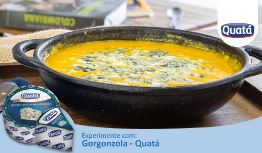 Sopa de Abóbora com Delicioso Queijo Gorgonzola Quatá